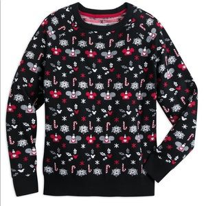 New Disney Parks Ugly Mickey Ear Hat Xmas Sweater
